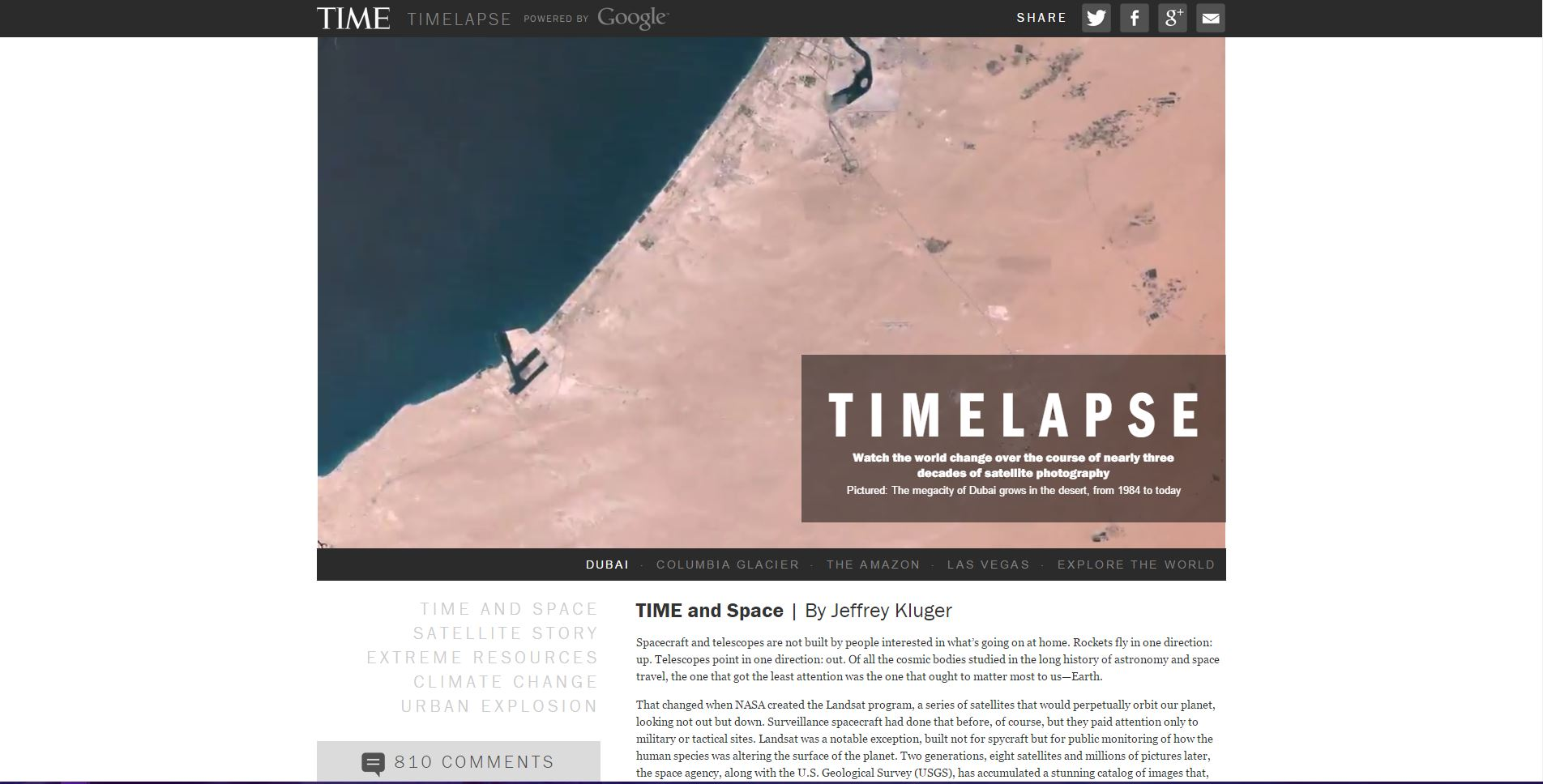 Cool Links - World Timelapse