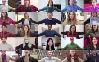 dozens of people using skype