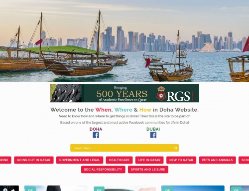 Launching the When, Where & How in Doha Website
